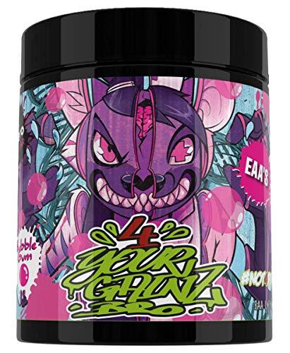 BPS Pharma 4YourGainz Bro EAA Keto-Blend Aminosäure Amino BCAA Bodybuilding 500g (Bubble Gum)