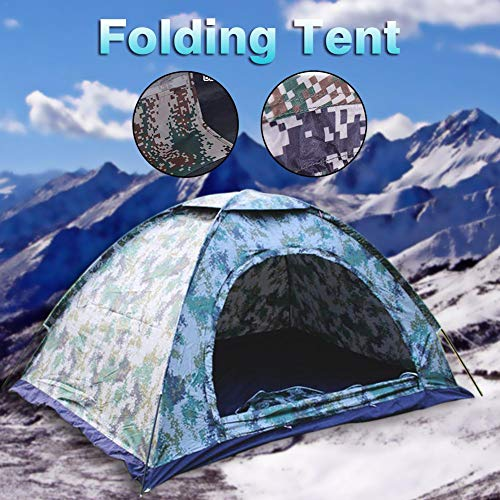 Dire-wolves Tent,2 Person Camouflage Tent Rain Proof Outdoor Camping Tent Instant Tourer Unisex Outdoor Dome Tent