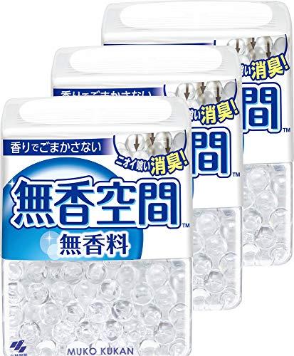 【まとめ買い】無香空間 消臭剤 本体 無香料 消臭ビーズ 315g×3個