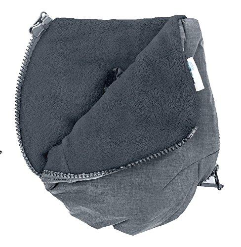 Altabebe AL2801P-47 Handmuff-Handschuhe Alpin Kollektion für Kinderwagen, grau