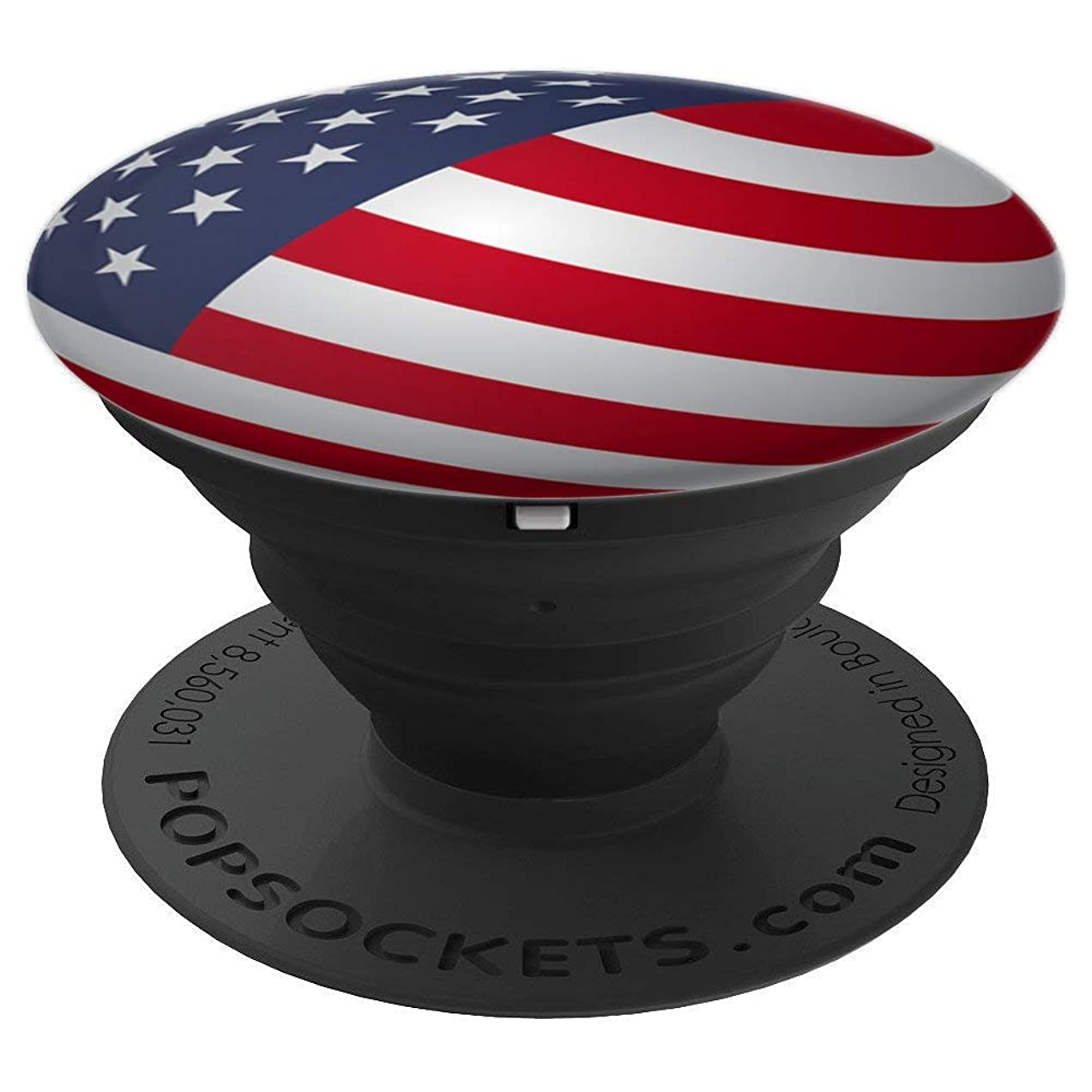 American Flag Design USA Phone Grip Holder For Women and Men - PopSockets Grip and Stand for Phones and Tablets