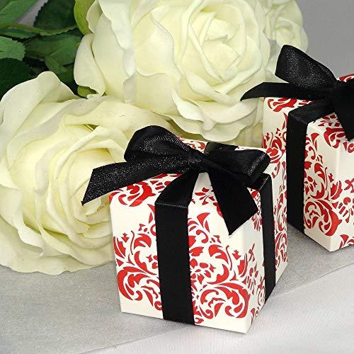 Einssein 12x Caja de Regalo Boda Morocco Cajas Bonitas para cajitas Regalos Bombones Carton bolsitas Papel chuches Bodas Bautizo pequeñas pequeña recordatorios comunion Navidad Decorar Invitaciones