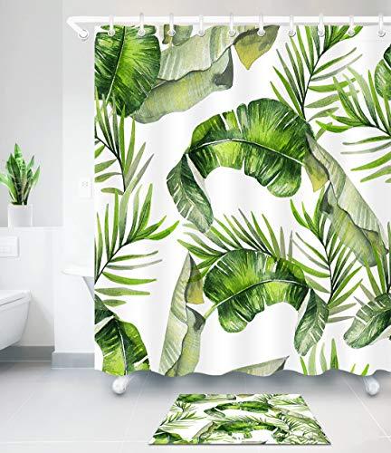 Fanmuran cortina de ducha 150*180cm digital PEVA tejido de la Tela de poliéster Impermeable decorativa Cortina de cuarto de baño impresión 3D resistente al moho con ganchos de...
