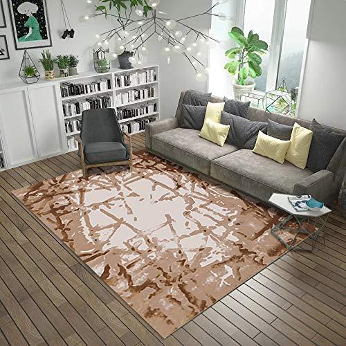 NF Alfombra de área grande geométrica impresa alfombra sala de estar lavable dormitorio moderno impresión piso alfombra para salón Mat hogar