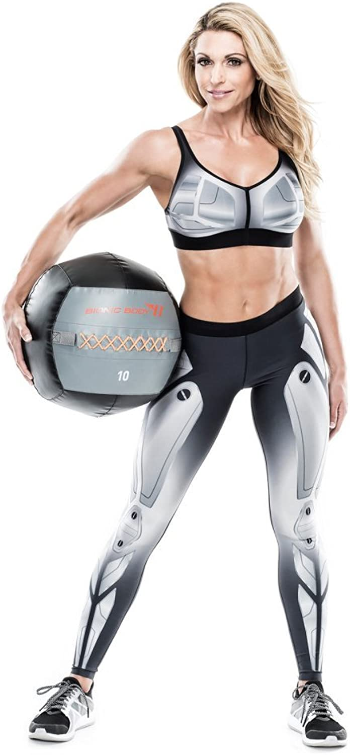 Bionic Body Soft Medicine Ball Weighted Slam Wall Ball for Cardio Workout and Core Training – Ideal for Squat, Lunge, and Partner Toss – 6, 10, 14, 20 lb.