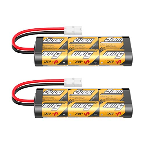 Flylinktech 2 Pack 7.2V 5000mAh NiMH RC Car Rechargeable Batteries for...