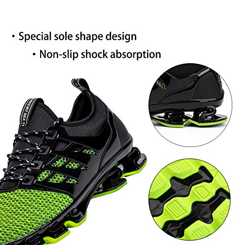 TSIODFO Green Shoes for Men mesh Breathable Comfort Fashion Running Shoes Sport Athletic Walking Sneakers Man Runner Jogging Shoes Casual Tennis Trainers Size 12 5