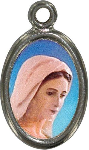 Ferrari & Arrighetti Medalla Virgen de Medjugorje de Metal niquelado y Resina - 2,5 cm