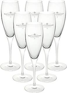 Moët & Chandon Impérial Champagne Flute Glasses 0.2l Box Set Glass Clear (Pack of 6)