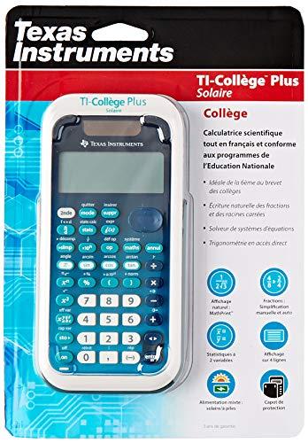 Calculatrice Scientifique Ti-Collège Plus Solaire