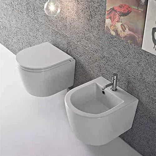 Sanitari Sospesi Ceramica Globo Forty3 da 43 cm WC + BIDET + SEDILE