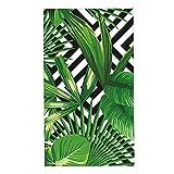 Palm Leaves Banana Leaf Towel Tropical Striped Hand...