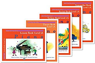 Alfred's Basic Piano Library: Level 1A Books Set (5 Books) - Lesson 1A, Theory 1A, Technic 1A, Recital 1A, Notespeller 1A