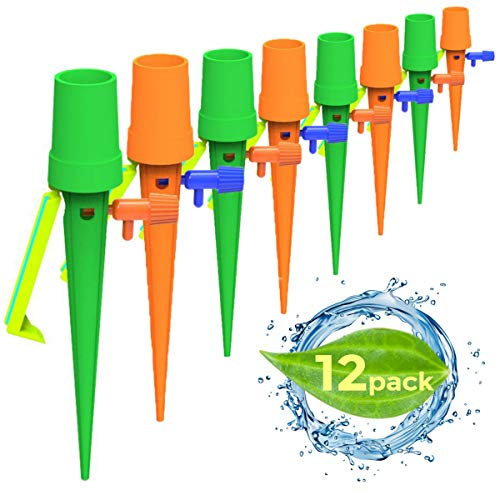 Upgraded Adjustable Self Watering Spikes.Indoor Outdoor Plastic Bottle Garden Plant Drip Irrigation Automatic Device Spike System. Works as Plants Watering Bulbs Globes Sold by Good Mind Solutions