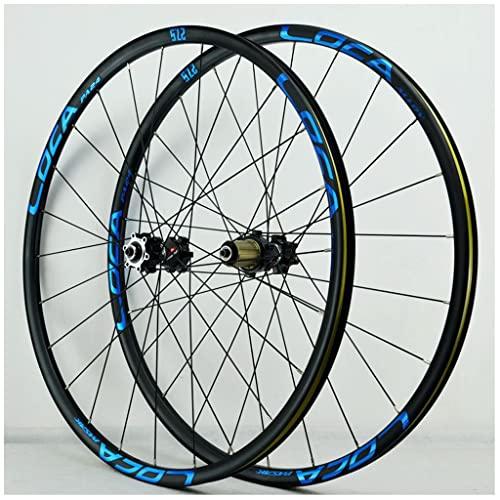 VPPV Aleación de Aluminio Ruedas de Bicicleta Montaña 26/27,5/29 Pulgadas Pared Doble Ruedas Bicicleta Carretera Rodamiento Sellado para 7/8/9/10/11 Velocidad 24 Hoyos (Size : 29 er)