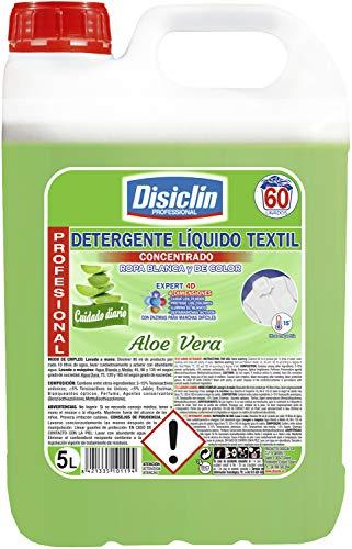 Disiclin Detergente Liquido Aloe Vera Enzimatico 75 Lavados 5 Litros 5000 ml