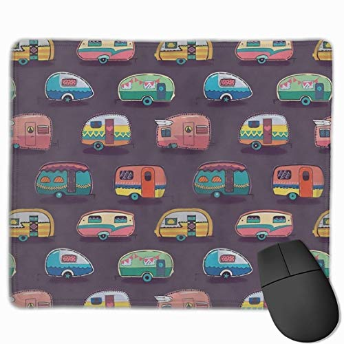 Remolques de coche Alfombrilla de ratón antideslizante con diseños únicos para juegos Alfombrilla de ratón rectangular Alfombrilla de ratón de goma natural artística con bordes cosidos, 30 x 25 cm / 1