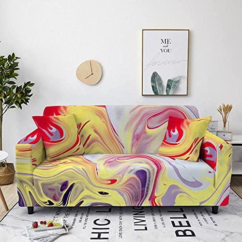 Jerdourb Funda de Sofá Elastica 4 Plazas, Colorido Mundo A Estampada Fundas para Sofa Suave Funda Cubre Sofá Ajustables Cubresofá Cubierta para sofá Funda Protector Funda de sillón 225-290cm