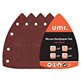 Umi. by Amazon- Juego de Hojas de Lija de 100 Piezas para Lijadora Múltiple,Hojas Multilijadoras Grano 40/80/120/180