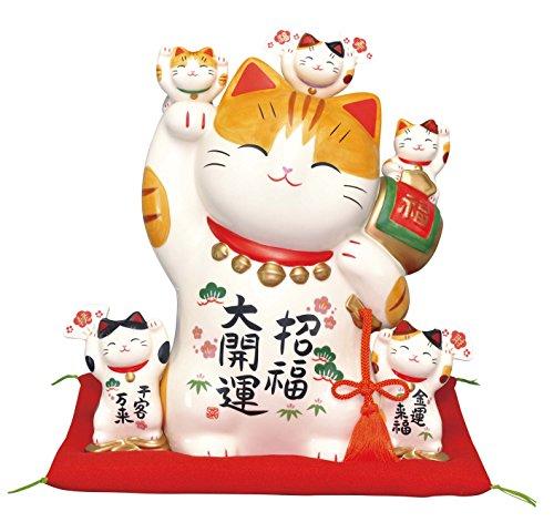 彩絵招福大開運招き猫(特大9号)(貯金箱) 7503