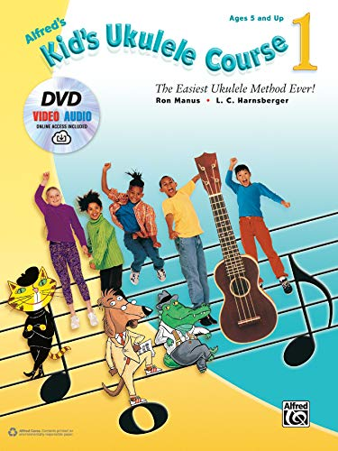 Alfred's Kid's Ukulele Course 1: The Easiest Ukulele Method Ever!, Book, DVD & Online Video/Audio