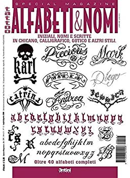 Alphabets and Numbers Italy Tattoo Book for Scripts and Various Lettering