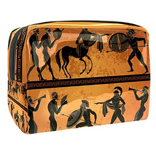 Bolsa de maquillaje portátil con cremallera bolsa de aseo de viaje para las mujeres práctico almacenamiento cosmético bolsa de cuerpo humano cola de caballo