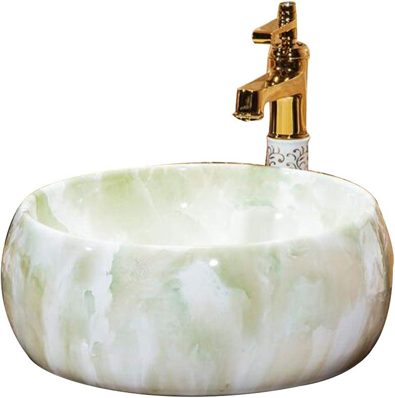 GongDi Waschpltze Waschtisch Runde Toilette Hotel Bad Arbeitsplatte Keramik Küche Kunst Becken Waschbecken 41  15
