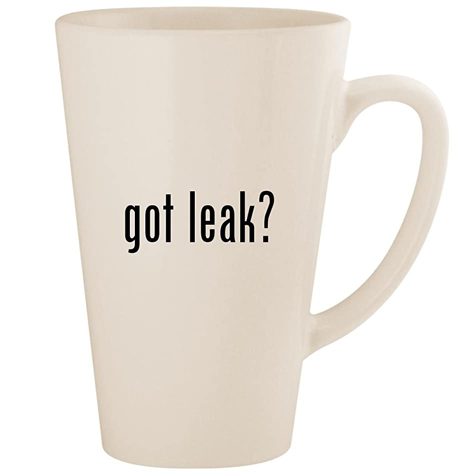 got leak? - White 17oz Ceramic Latte Mug Cup