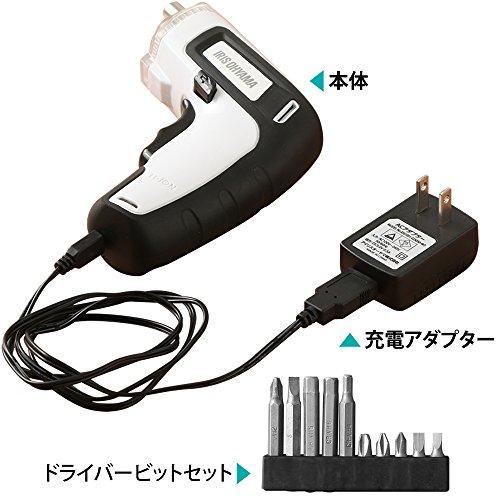 アイリスオーヤマ電動ドライバー充電式軽量RD110-Gグリーン