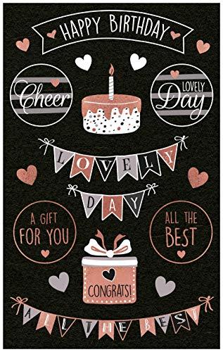Avery Zweckform 18 Deko Sticker Happy Birthday (Aufkleber, Geburtstag, Geschenke, Karten, Glückwünsche, Party) Art. 57079