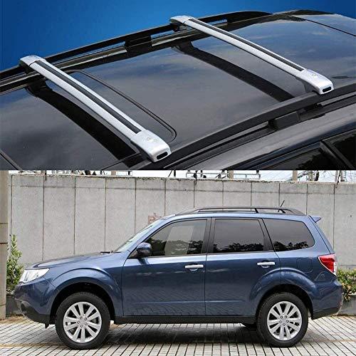 Mmhot 2 Pcs Ajusta a Las Medidas Subaru Forester aleación de Aluminio con Cerradura de Equipaje Equipaje Bastidores Bastidores de Techo del Carril de la Barra Cruzada Travesaño 2008-12