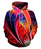 Neemanndy Unisex 3D Cool Galaxy Space Print Hoodies Fashion Casual Hooded Sweaters, X-Large