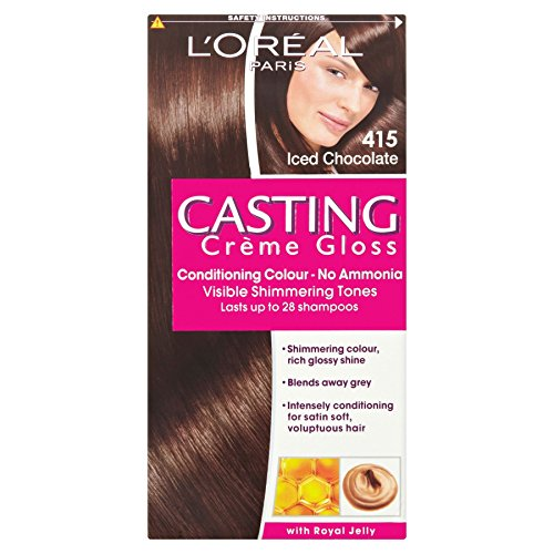 3 x L'Oreal Paris Casting Creme Gloss Conditioning Colour 415 Iced Chocolate