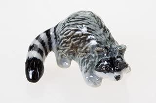 Raccoons Figurine Animal Miniature Collectibles Ceramic Cute Souvenir Decor Gift