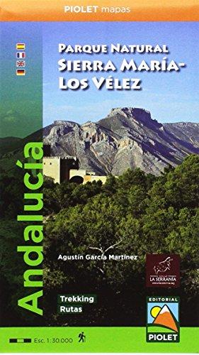 Parque Natural Sierra María-Los Vélez 1:30.000 mapa excursionista. Editorial Piolet.