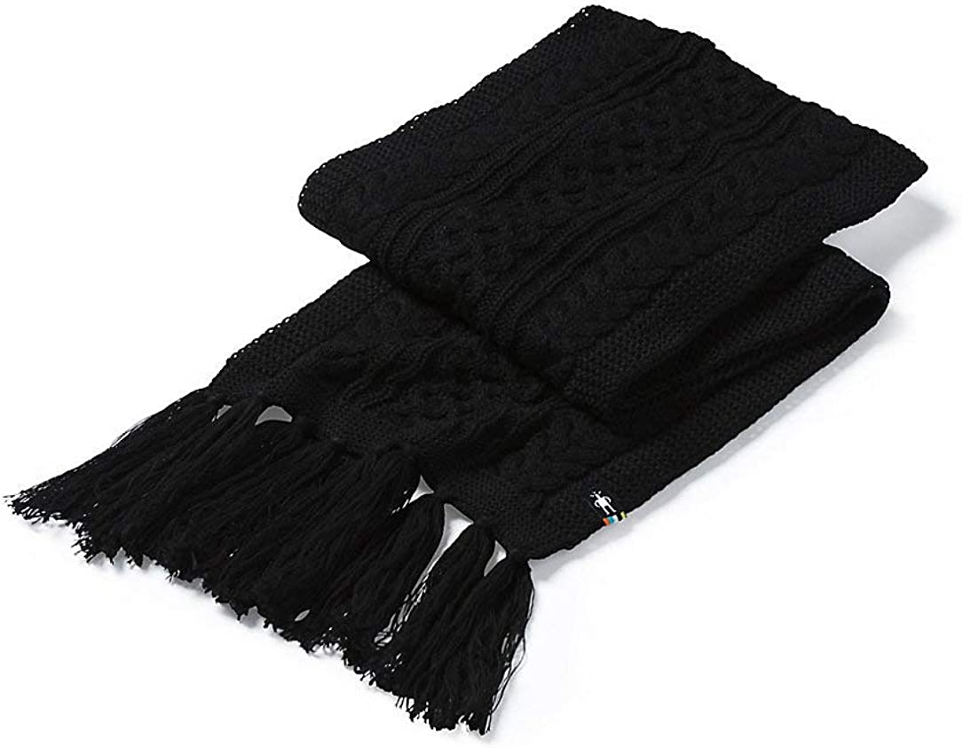 Smartwool Unisex Lodge Girl Scarf, Black, One Size Fits Most