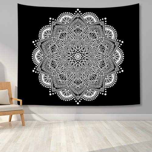 KHKJ Tapiz de Mandala para Colgar en la Pared, decoración Boho, tapices de Tela de Pared, Tapiz Bohemio psicodélico, Alfombra de Pared de Mandala A6 150x130cm