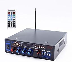 XMAGG® MIini Amplificador Karaoke Bluetooth 100W + 100W Entrada 2 Micrófonos con Volumen de Mezcla y Echo Radio FM .Entradas SD/USB con Mando a Distancia