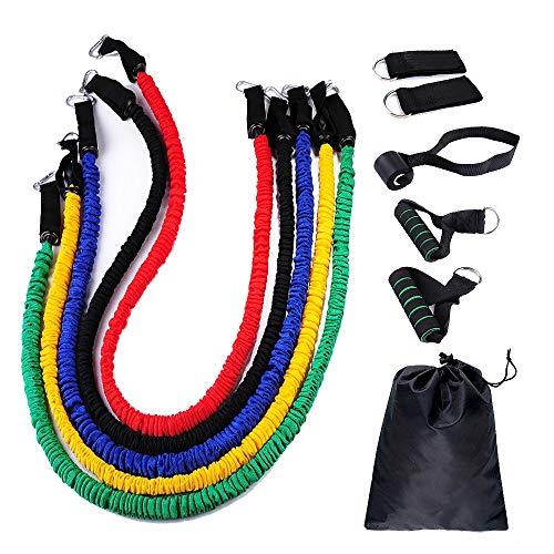 FAMILY-200LB weerstandsbanden met oefenbanden, deuranker, enkelbandje, transporttas en handleiding (mogelijk niet beschikbaar in het Nederlands).