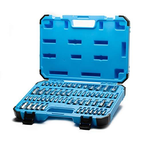 Capri Tools 60 piezas Master Estrella Torx juego de llaves de vaso