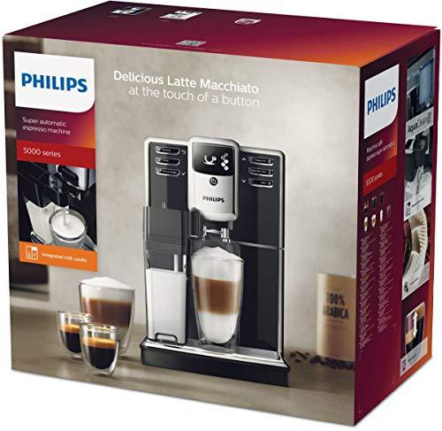 Philips EP5365/10 Serie 5000 Macchina da Caffè Automatica, 230 V, 1.8 l, con Macine in Ceramica, Filtro Aquaclean, Argento