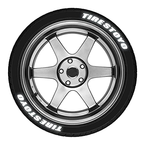 8 Piezas De Pegatinas Para Coche, Calcomanías En 3D Estéreo Reflectantes Neumáticos Con Letras - Pegatinas decorativas para neumáticos de coche, diseño de letra 3D