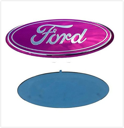F-7PK F-150 F-250 F350 Escape Excursion Expedition Freestyle Grille Tailgate Rear Oval Emblem Front Badge (Pink)