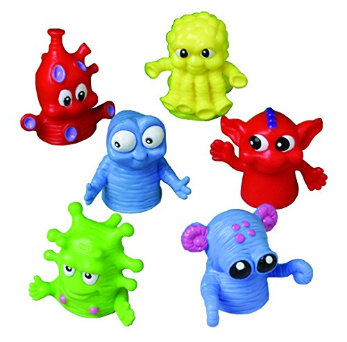US Toy - Dozen Assorted Color Monster Finger Puppets -15 Made of Plastic (1-Pack of 12)