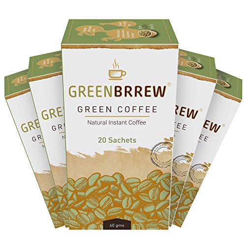 Greenbrrew Natural Green Coffee Beans Extract For Weight Loss (20 Sachets X Pack Of 5) - 300G
