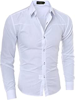LANBAOSI Men's Slim Fit Long Sleeves Button Down Dress Shirts