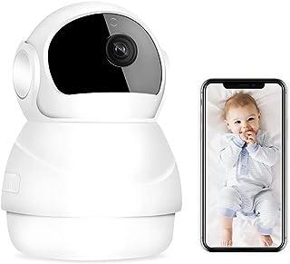 SaponinTree Bewakingscamera, wifi, 360 graden, 1080p FHD-beveiligingscamera met bewegingsdetectie, tweeweg audio, infraroo...