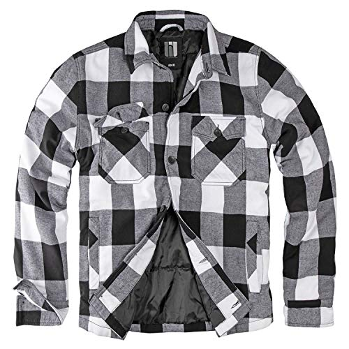 bw-online-shop Lumberjacket Rocky schwarz/weiß - 4XL