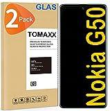 tomaxx 2x Panzerglas für Nokia G50 5G 9H Glas Panzerfolie Bildschirmschutzfolie Hartglas kompatibel mit Nokia G50 Smartphone